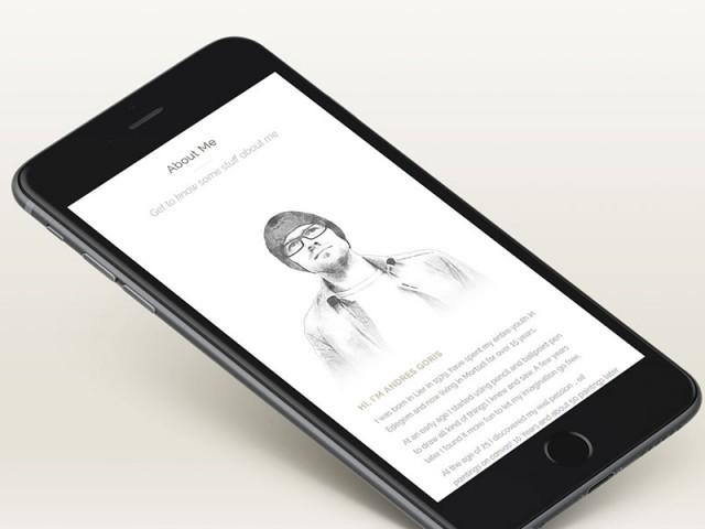 Webdesign voor Andres Goris