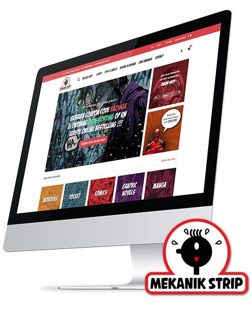 webdesign & webshop voor Mekanik Strip