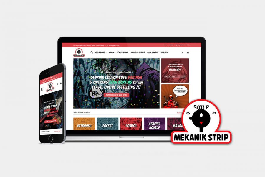 responsieve website & online shop Mekanik Strip