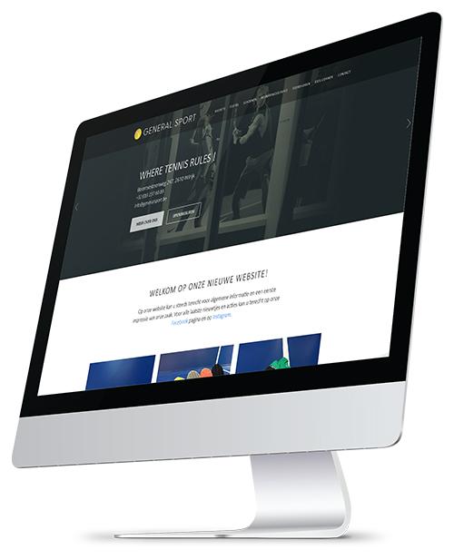 general sport webdesign desktop