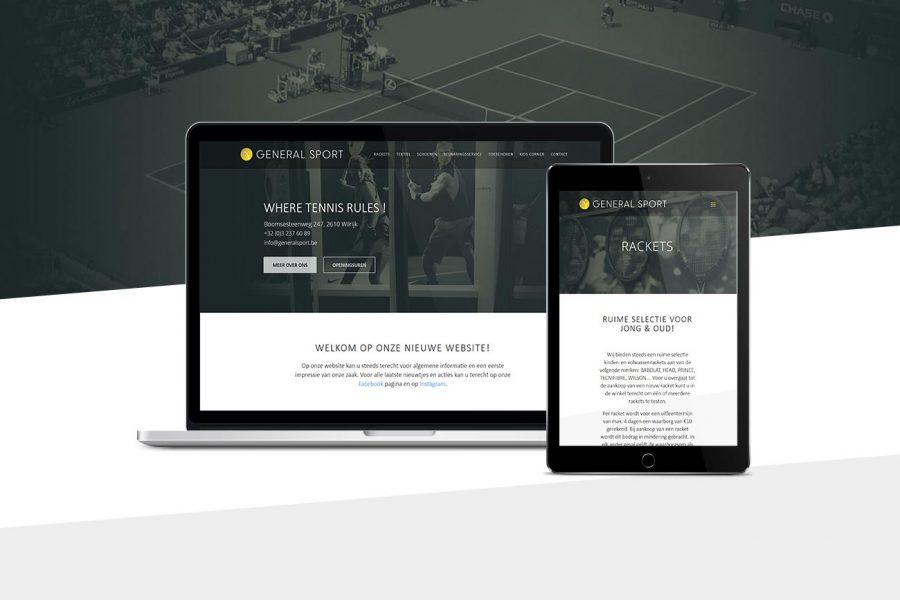 webdesign general sport wilrijk
